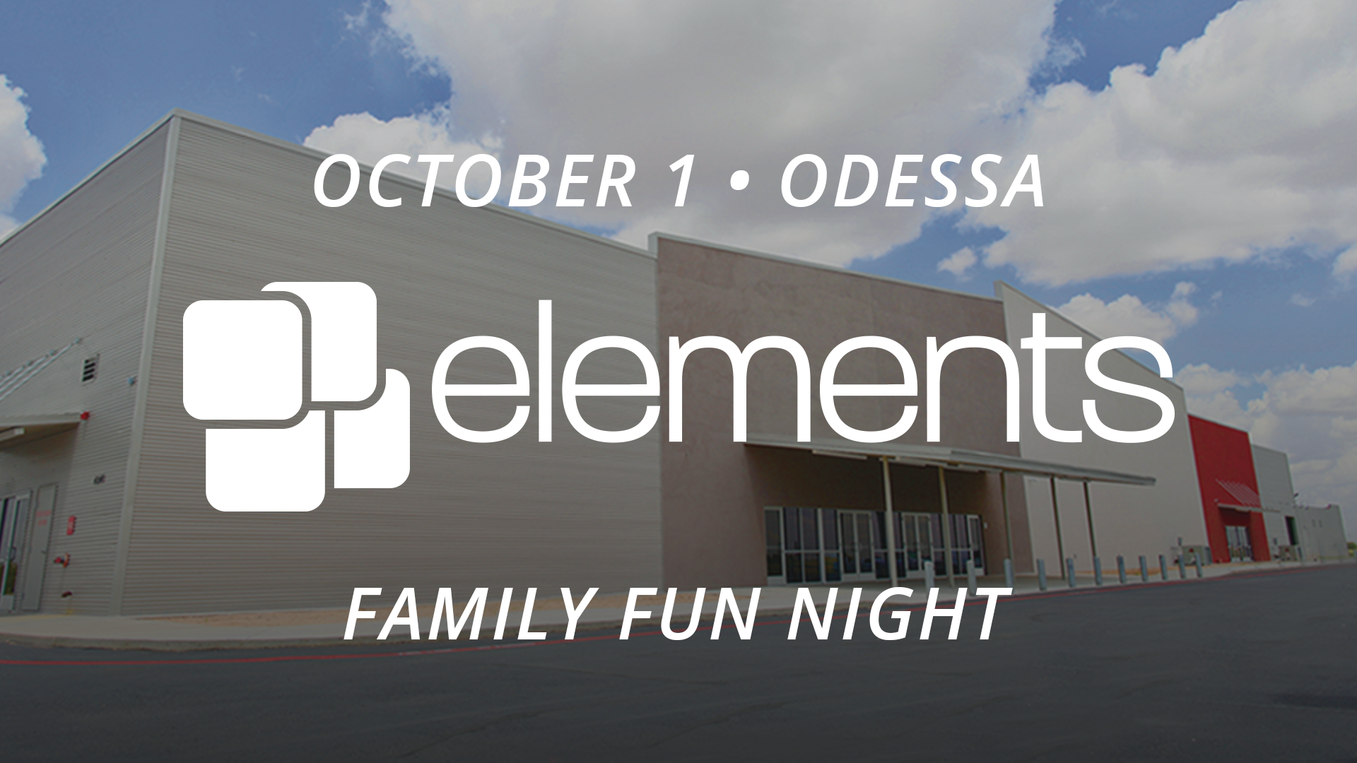 Sunday October 1 There Will Be A Special Elements Service At The Odessa Campus This Is An All Church Multi Event That Celebrate Lives